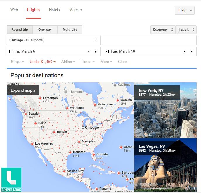Google Flight Search 1