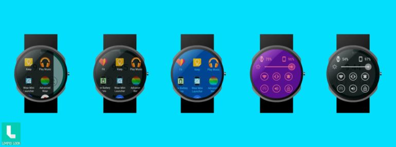 Android Wear Mini Launcher –App Screens