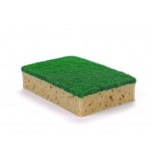 Fibra verde+esponja 14x9 12 u