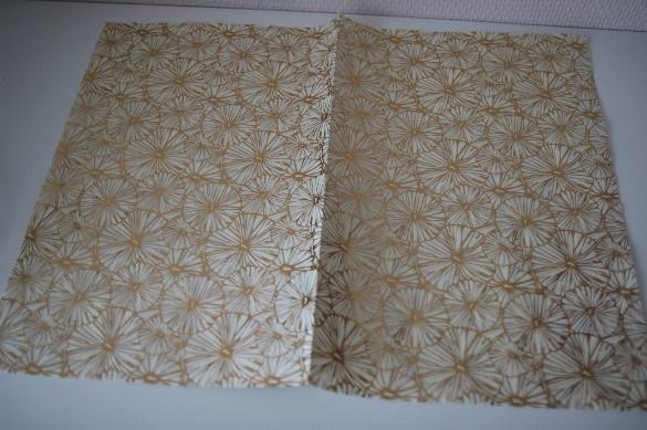 Découpage sur vase - papier de soie