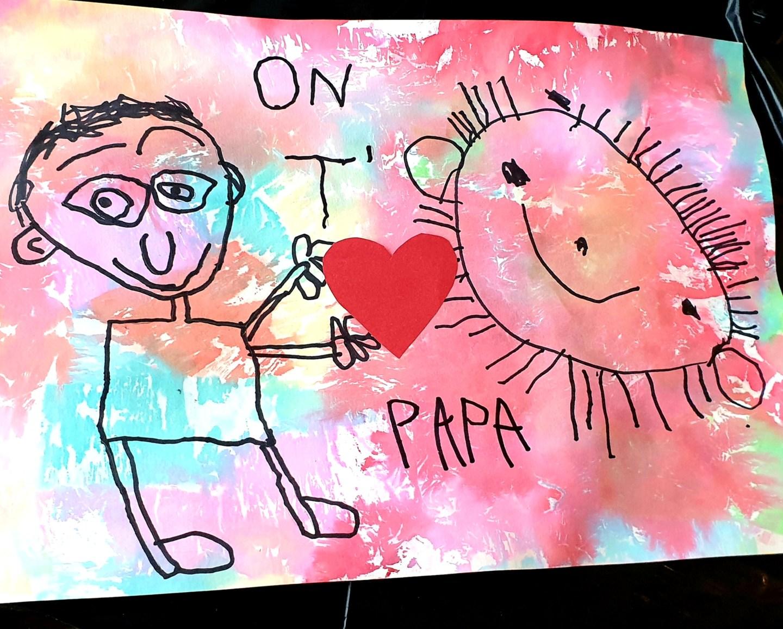 DIY Papier crépon cadeau fête des pères