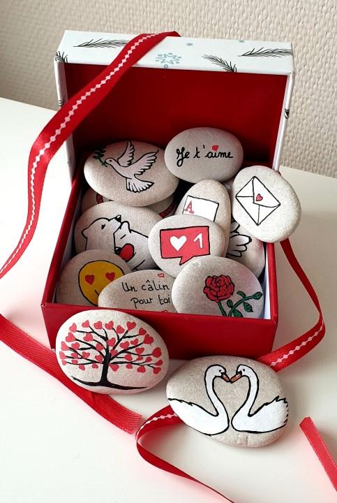 Les galets d'amour - cadeau personnalisé