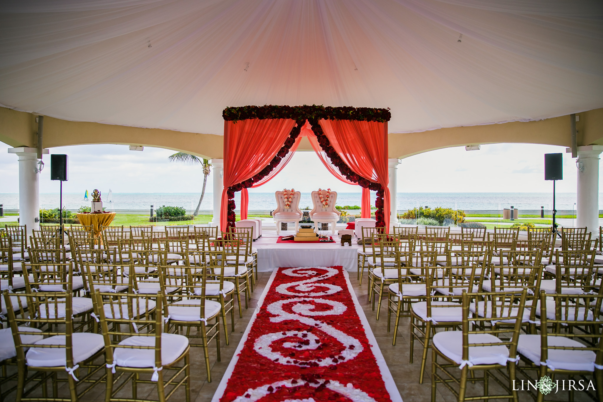 orange outdoor chairs oversized chaise lounge indoor moon palace cancun indian wedding | bharti & bhavesh