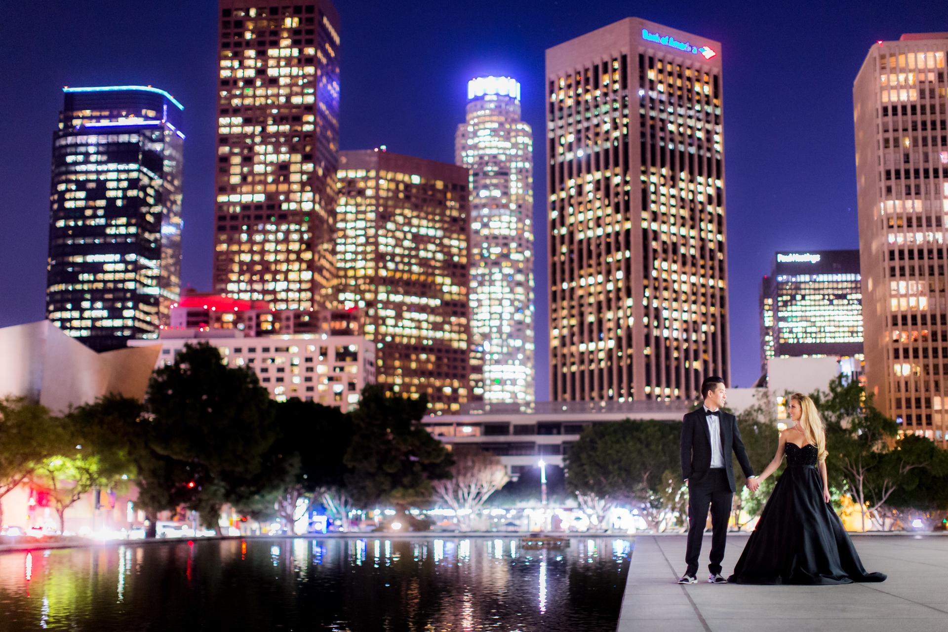 Downtown Los Angeles Engagement  Nikki  Wynn