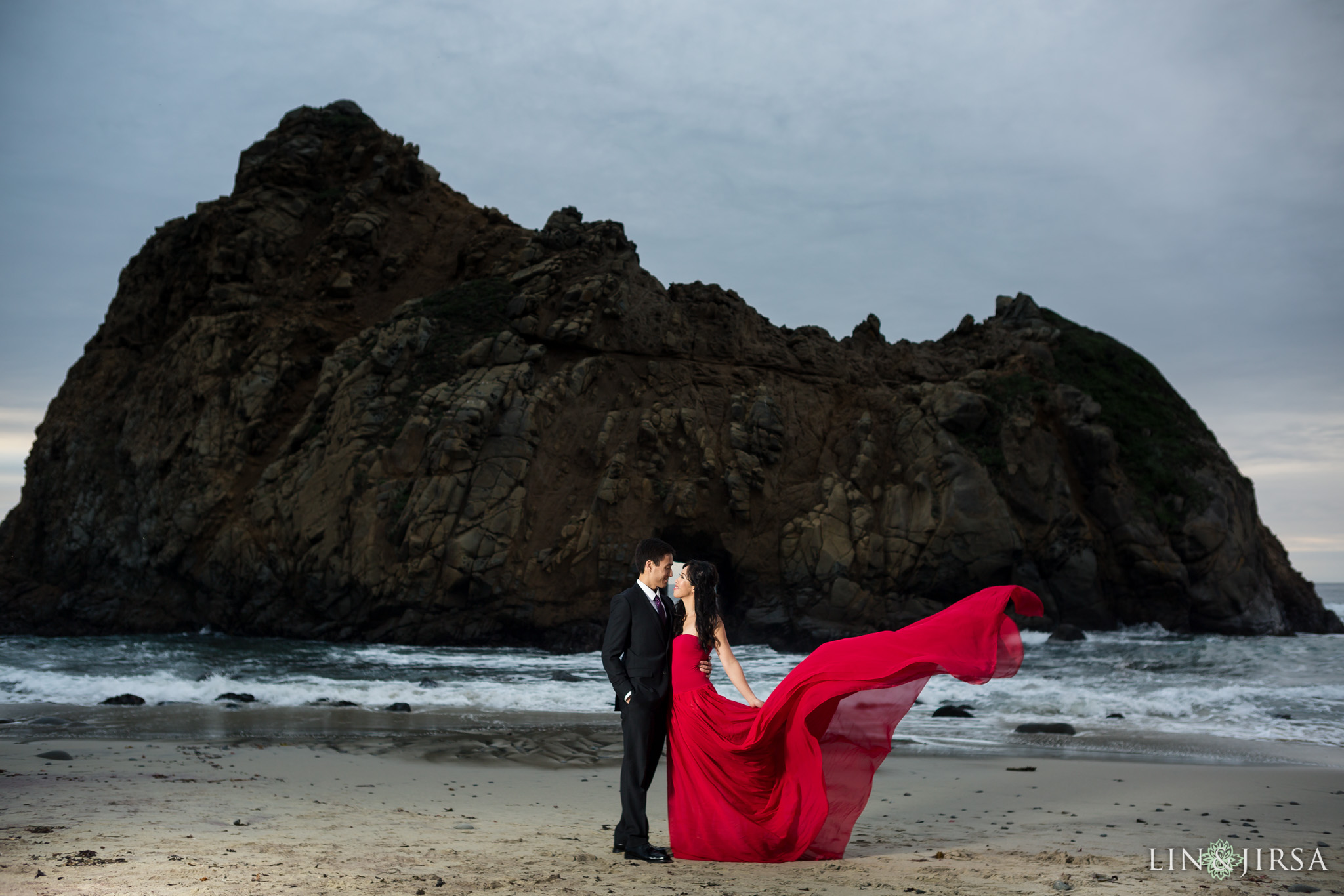 Pfeiffer Beach Big Sur Couples Session  Christina  Jason