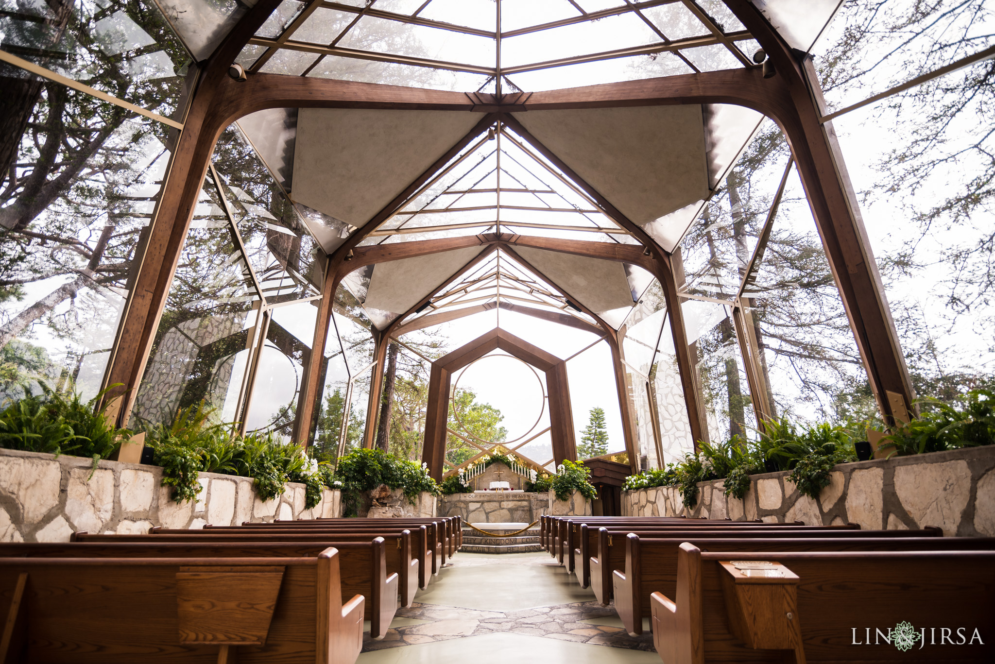 Wayfarers Chapel Los Angeles Wedding  Ora  Terry