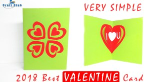 Happy Valentine Day Card, Pop Up Heart Card Tutorial Step by Step, Best Handmade Valentine Card 2018