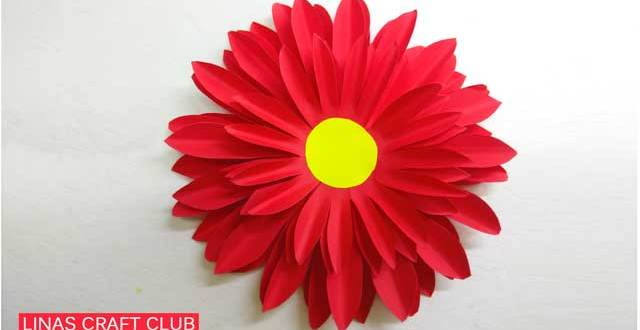 How to Make Dahlia Paper Flower Easily [2018]