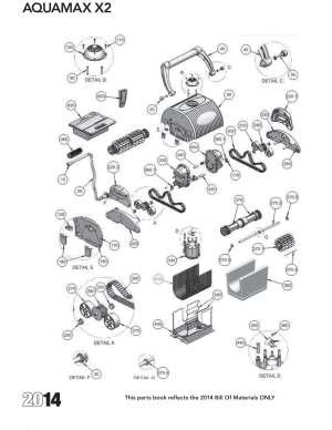AquaMAX X2 Diagram & Parts List 2014  Lincoln Aquatics