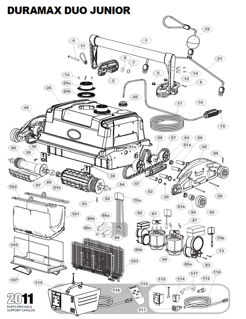 DuraMAX Duo Jr Parts Diagram and Parts List 2013 & Before