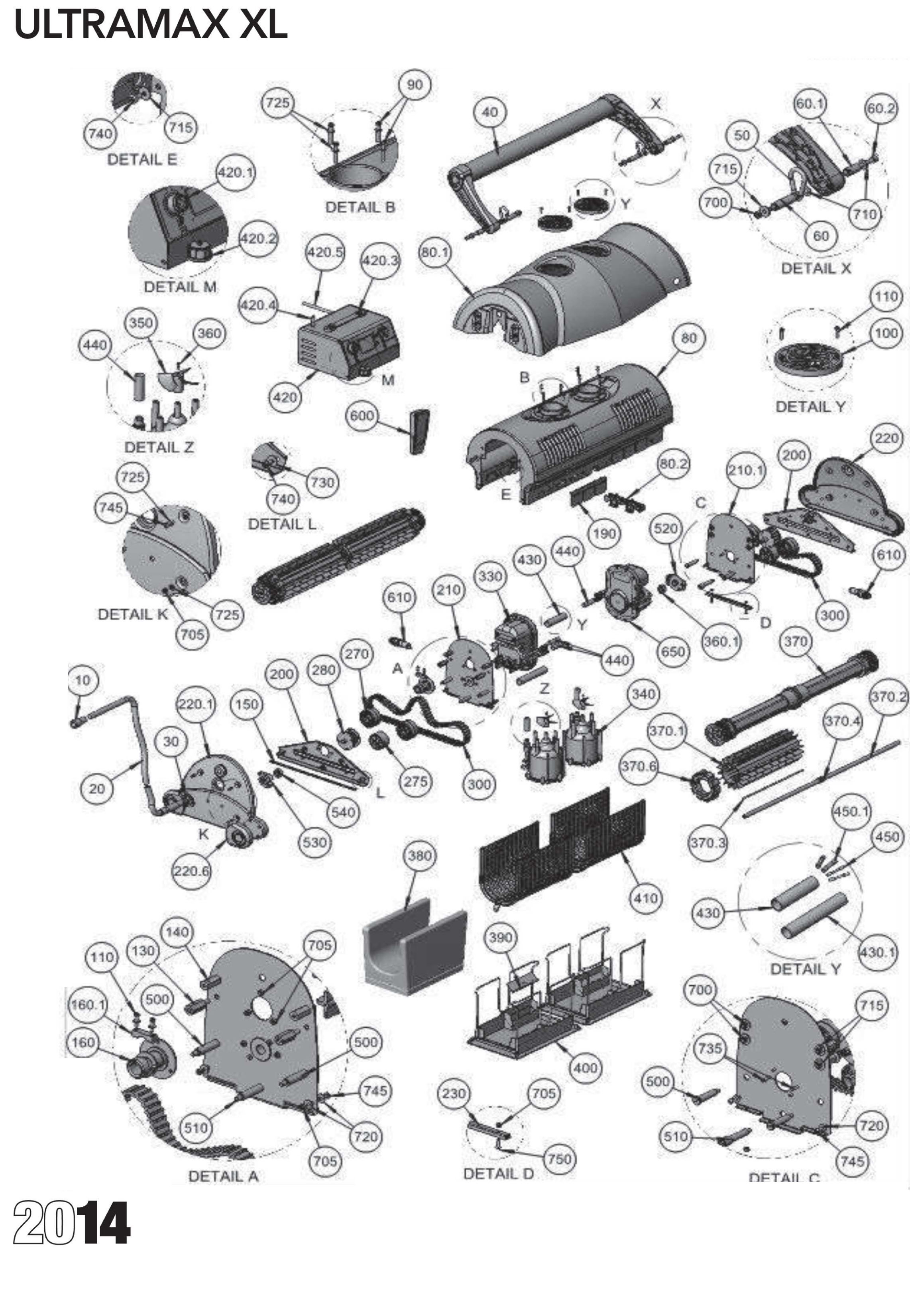 Ultramax Xl Parts Diagram And Parts List