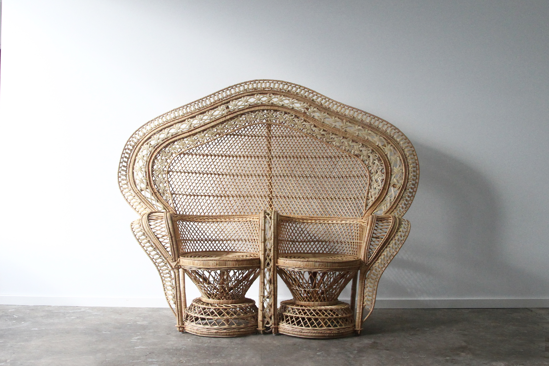 peacock hanging chair strong back double rattan commercial furniture supplier