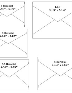 Baronial envelope size chart also choosing the right rh lincolncountypublishing