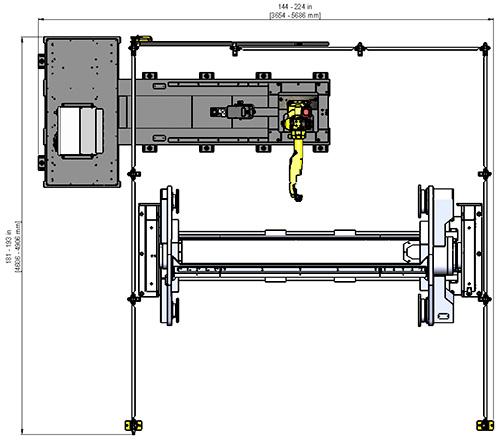 Fab-Pak FW Dual Headstock/Triple Axis System