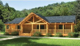 Log Home Floorplans  The Original Lincoln Logs