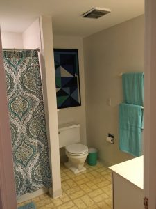 bathroom staged