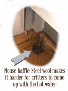 Use steel wool to baffle mice