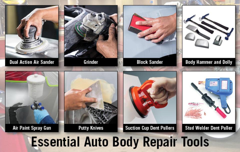8 Essential Auto Body Repair Tools For Collision Professionals