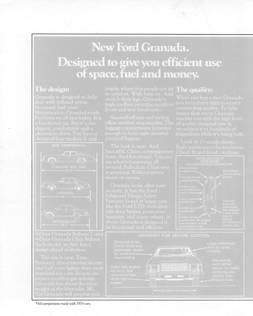 1975 Granada Dealer Brochure