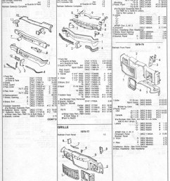 ford granada 1975 1979 collision parts list page 1 [ 779 x 1042 Pixel ]