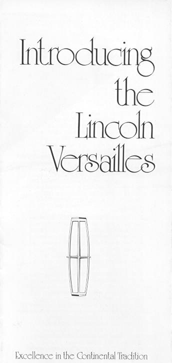 1977 Introducing the Lincoln Versailles Dealer Brochure