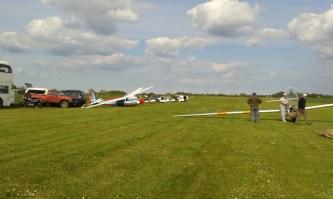A glider line-up