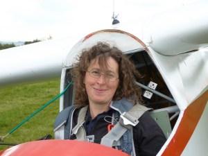 Katharine York, secretary, webmaster, and - more importantly - glider pilot