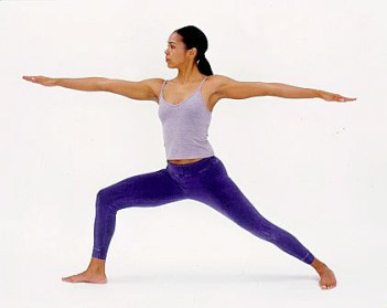 Yoga Pose Supported Warrior