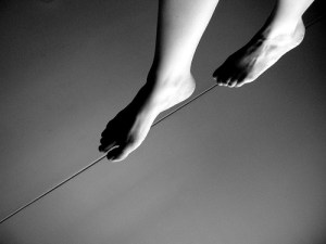 tightrope-barefoot