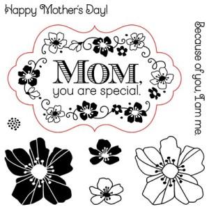 Flower for Mom stamp images