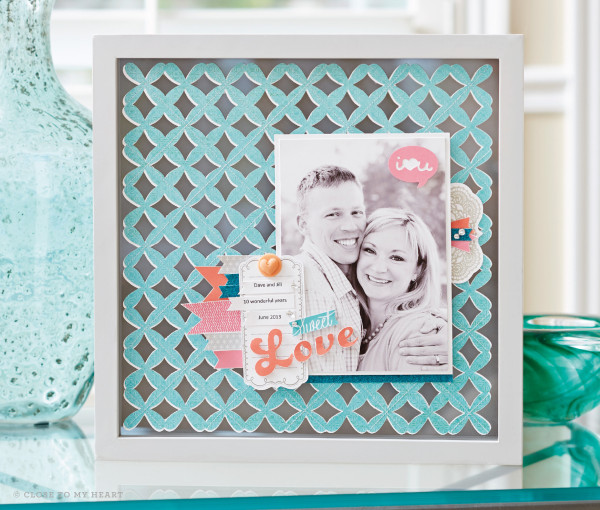 Cricut Artbooking Decor Frame Layout CTMH Linda Creates ~ Linda Caler www.lindacreates.com
