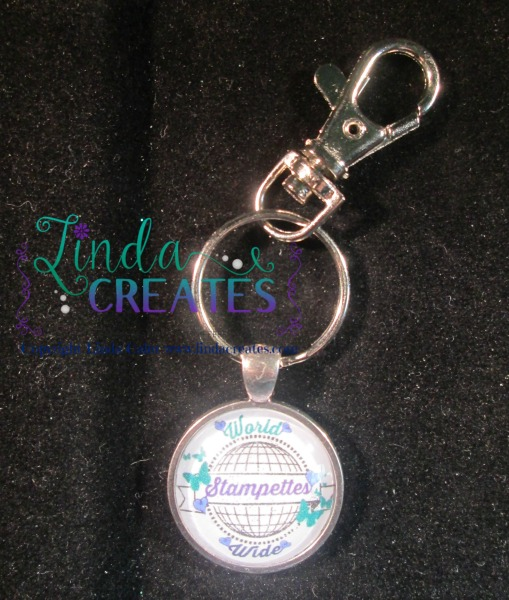 CTMH World Wide Stampettes Charm, convention gifts, linda creates ~linda caler,
