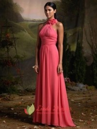Chiffon Halter Bridesmaid Dresses, Fuchsia Bridesmaid ...