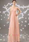 Blush Pink Bridesmaid One Shoulder Dress