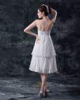 Short White Chiffon Wedding Dress