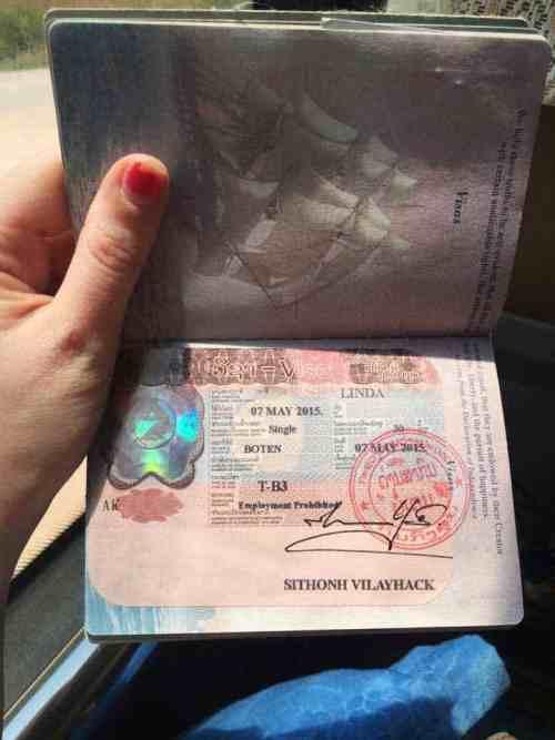 Lao Visa On Arrival | Linda Goes East