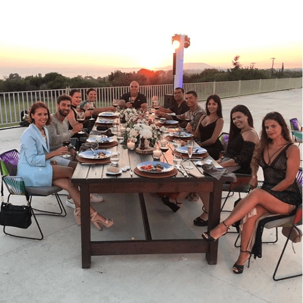 Cristiano Ronaldo celebrates 100million move to Juventus with family & friends as they enjoy dinner together (Photos)