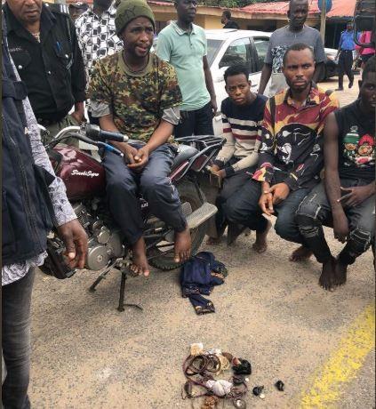 Lagos police arrestOkada man andhis associates unleashing terror on residents of Ajah