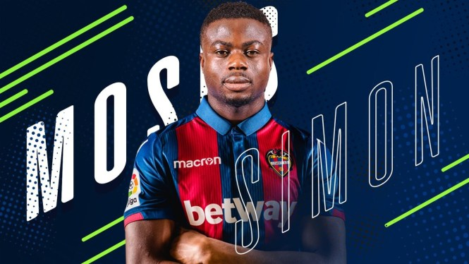 Super Eagles star Moses Simon signs for Spanish club Levantefor 4.5 million.