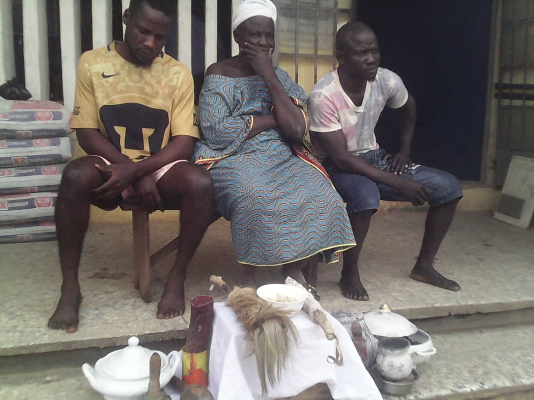 Lagos Police arrest mother and sons who run kidnapping/cybercrime gang
