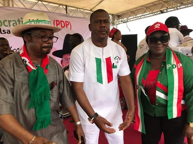 Former APC Chairman, Buhari's Rep, Assembly Member, 5000 others defect to PDP in Bayelsa