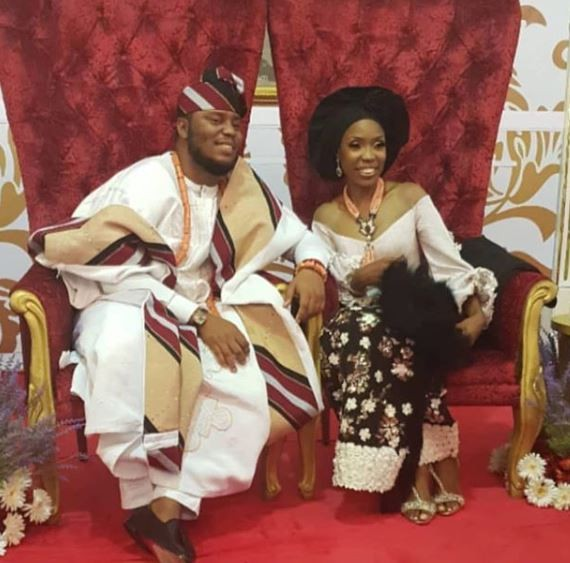 First photos from Lala Akindoju and Chef Fregene's tradiional wedding in Lagos