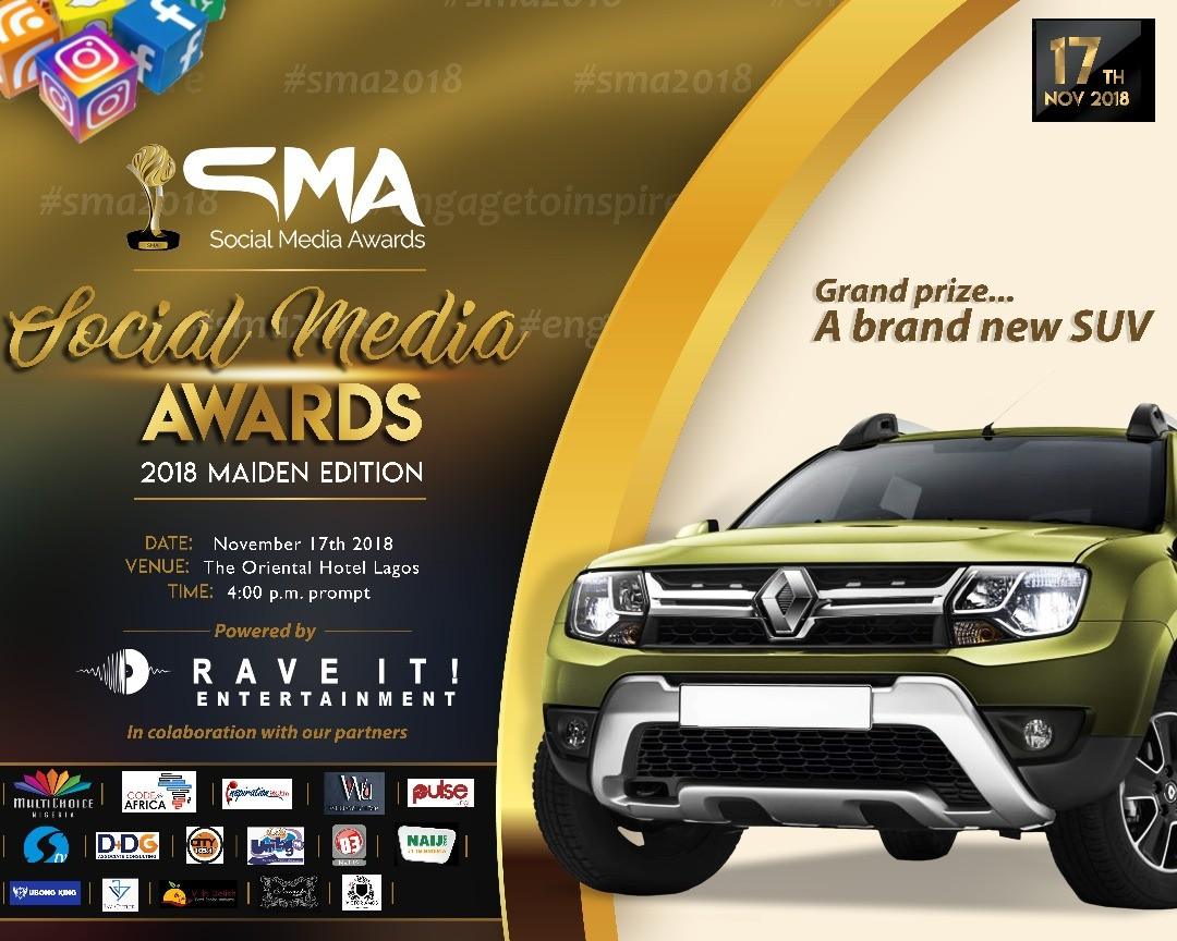 Ninety Five(95) individuals have been nominated for twenty different categories in the Maiden Edition of Social Media Awards