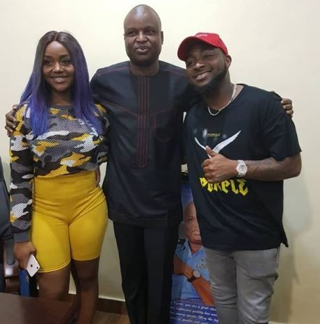 Photos: Davido and Chioma visit super cop, Abba Kyari