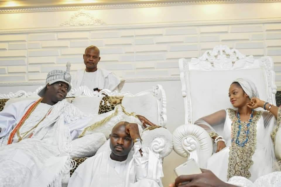 Love Struck! Caption this photo of the Ooni of Ife and his new wife, Evangelist Naomi