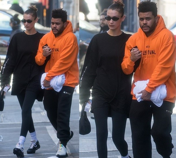Bella Hadid and The Weeknd step out hand-in-hand for a stroll in NYC (Photos)