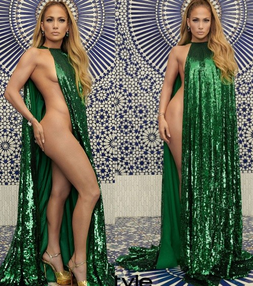 Jennifer Lopez attempts to break the internet by posing half-naked for InStyle Photo Shoot (Photos)