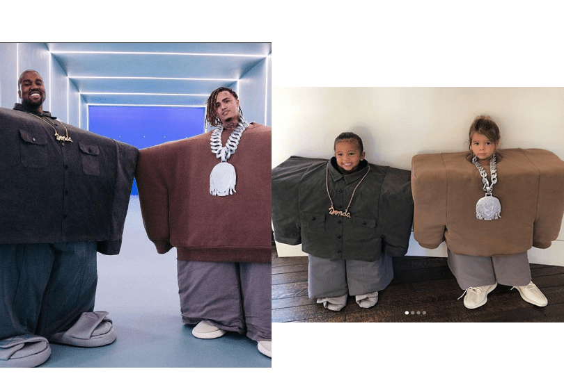 Saint West and Reign Disick dress as Kanye and Lil Pump for Halloween(Photos)