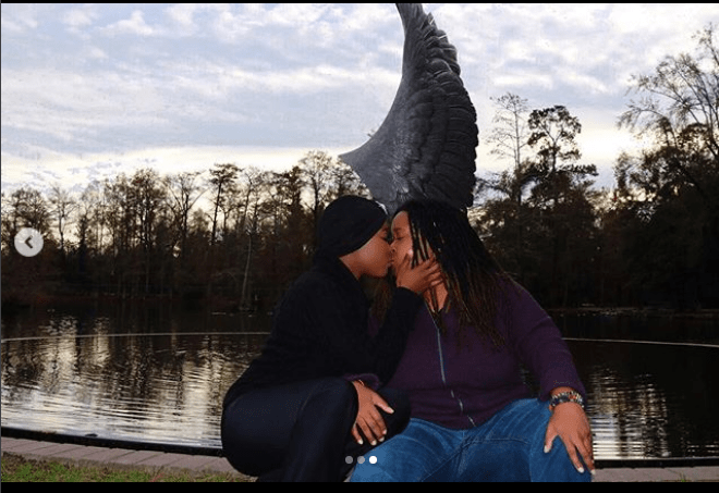 Charly Boy's daughter Dewy and her partner SJ lock lips in new loved-up photos