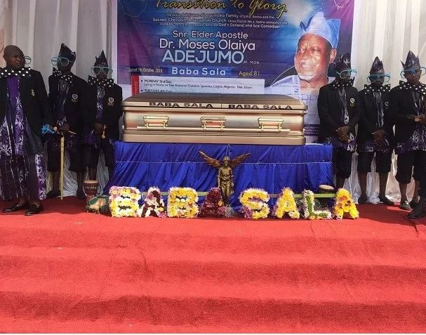 Rose Odika, Dele Odule, Lere Paimo, others turn up for Baba Sala's burial in Ibadan